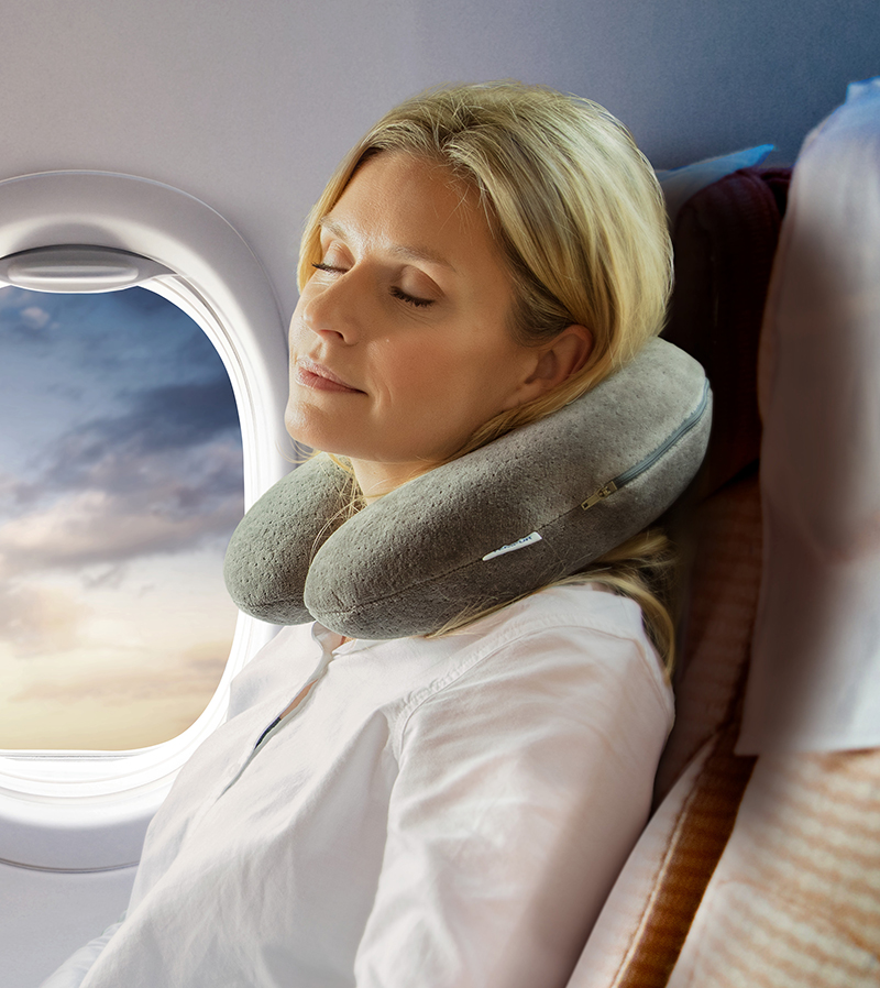 Kobieta w samolocia