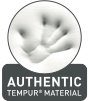 grafika – odcisk dłoni z napisem AUTHENTIC TEMPUR MATERIAL